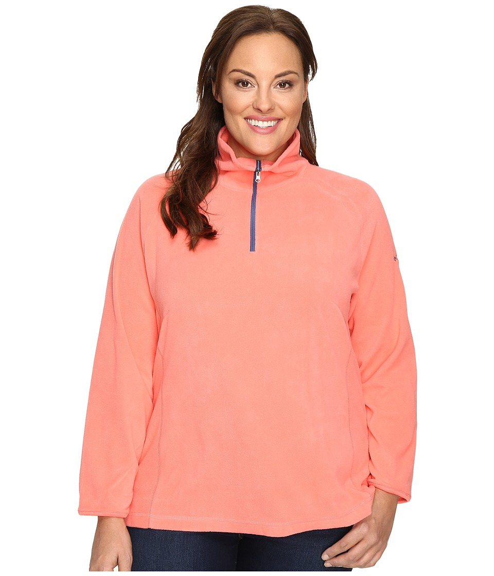 Columbia - Plus Size Glacial Fleece III 1/2 Zip (Hot Coral) Women's Fleece