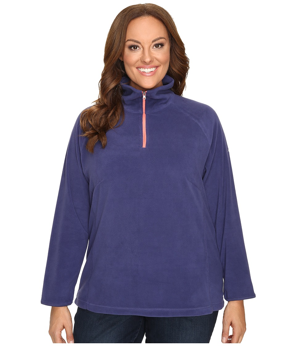 Columbia - Plus Size Glacial Fleece III 1/2 Zip (Nightshade) Women's Fleece