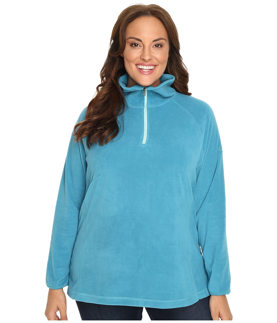 Columbia - Plus Size Glacial Fleece III 1/2 Zip (Deep Marine) Women's Fleece