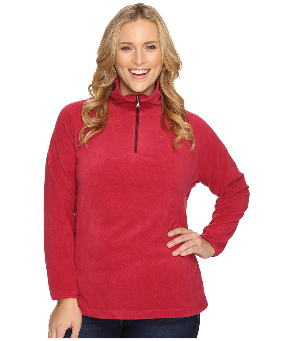 Columbia - Plus Size Glacial Fleece III 1/2 Zip (Red Orchid) Women's Fleece