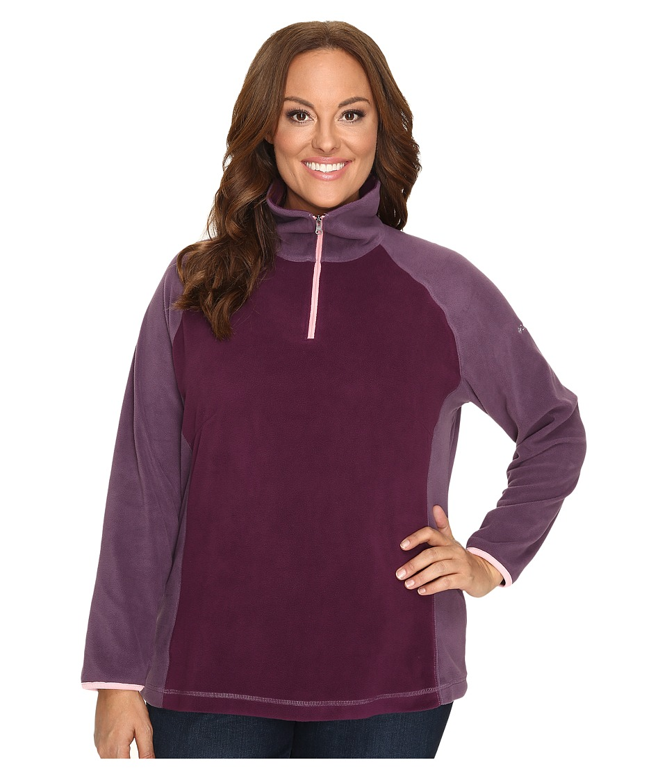 Columbia - Plus Size Glacial Fleece III 1/2 Zip (Purple Dahlia/Dusty Purple) Women's Fleece