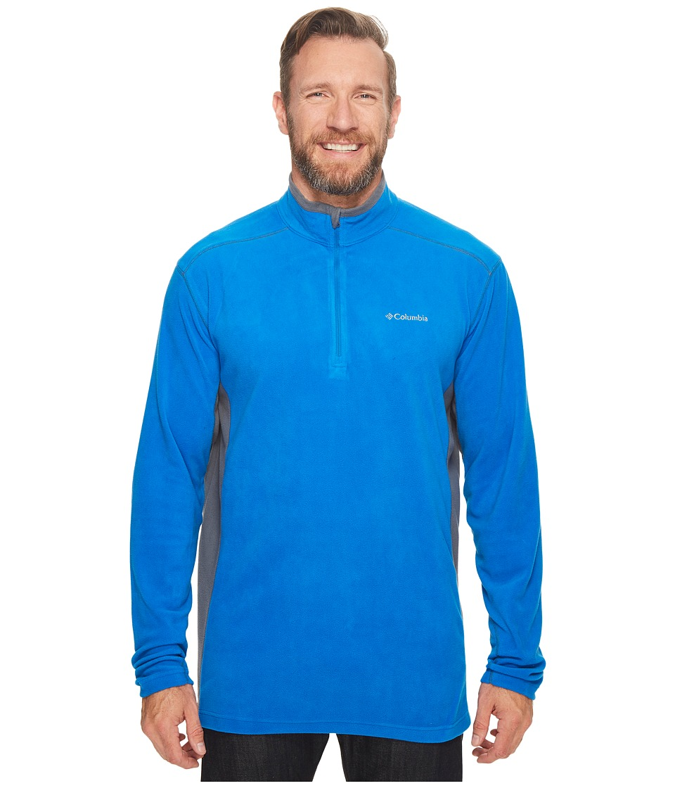Columbia - Big Tall Klamath Rangetm II 1/2 Zip (Super Blue/Graphite) Men's Coat