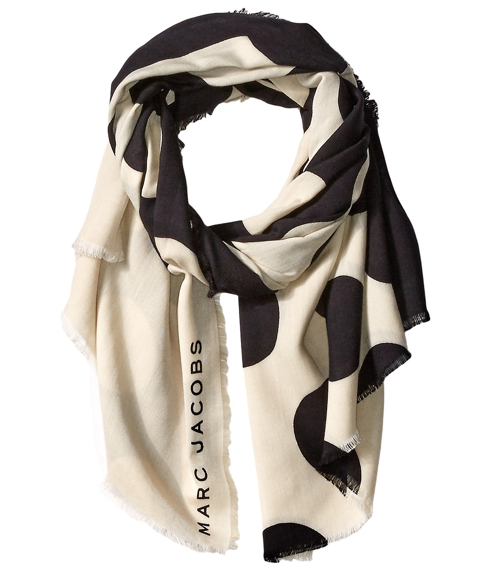 Marc Jacobs - Big Spot Scarf (Black Multi) Scarves