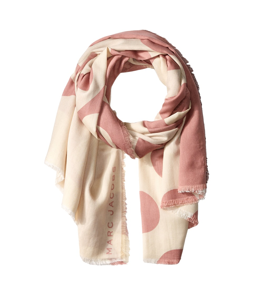 Marc Jacobs - Big Spot Scarf (Sequin Pink Multi) Scarves