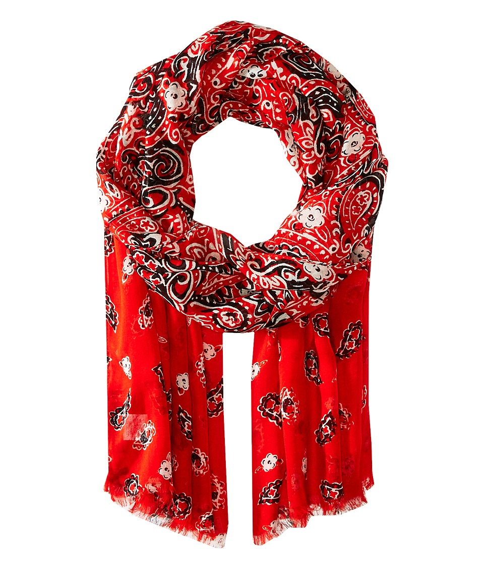 Marc Jacobs - Paisley Scarf (Chili Pepper Multi) Scarves