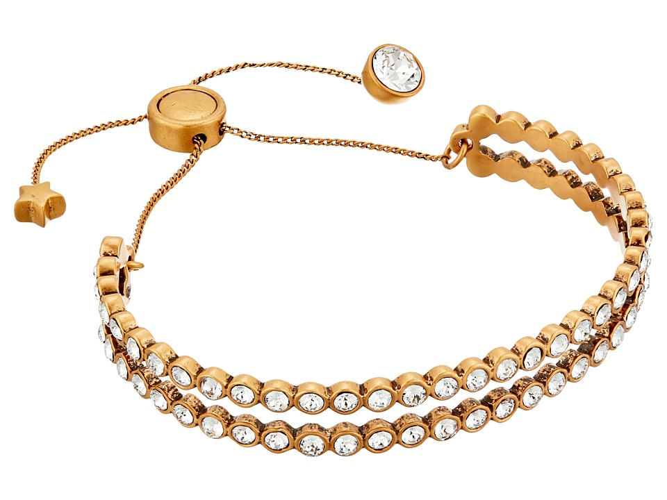 Marc Jacobs - Sparkle Crystal Dots Friendship Bracelet (Crystal/Antique Gold) Bracelet
