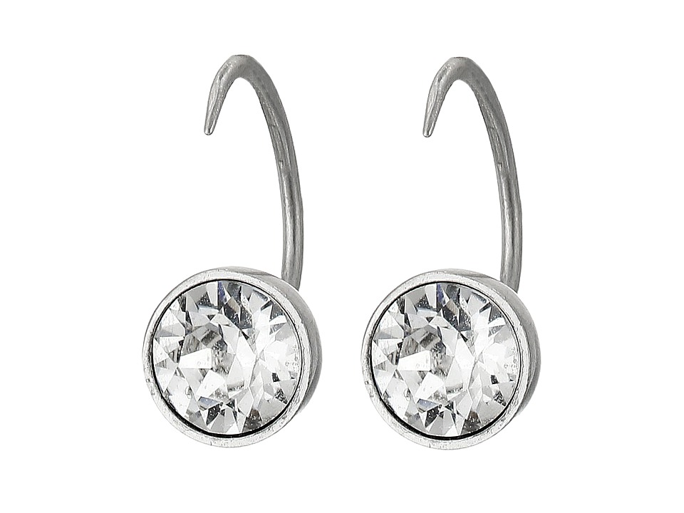 Marc Jacobs - Sparkle Small Crystal Hook Earrings (Crystal/Antique Silver) Earring