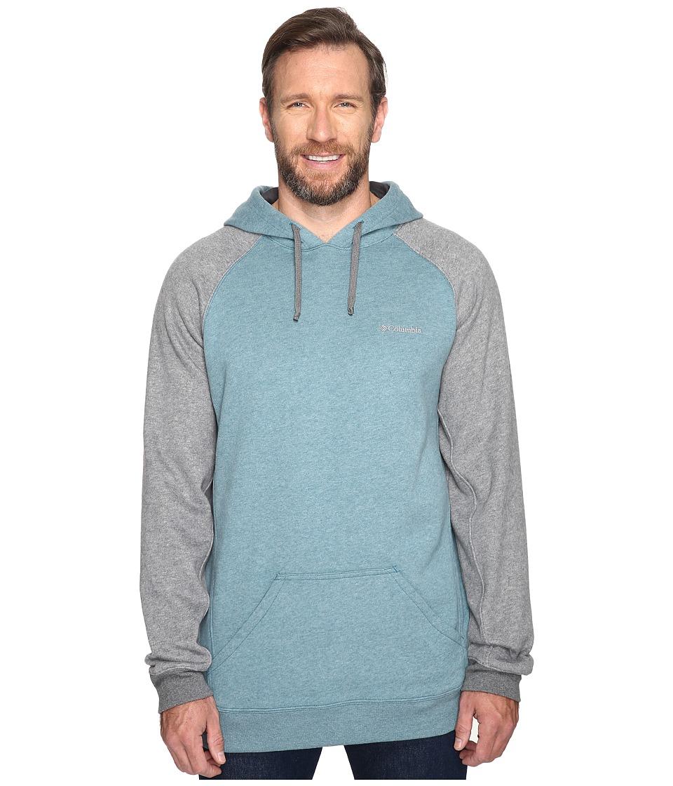 Columbia - Big Tall Hart Mountain II Hoodie (Deep Water Heather/Charcoal Heather) Men's Sweatshirt