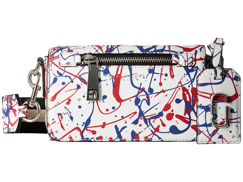 Marc Jacobs - Splatter Paint Crossbody (White Multi) Cross Body Handbags