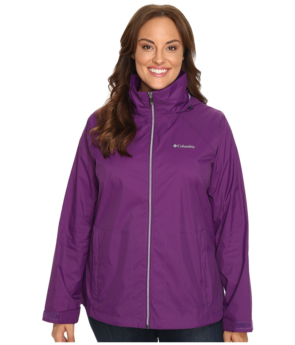 Columbia - Plus Size Switchback II Jacket (Iris Glow) Women's Coat