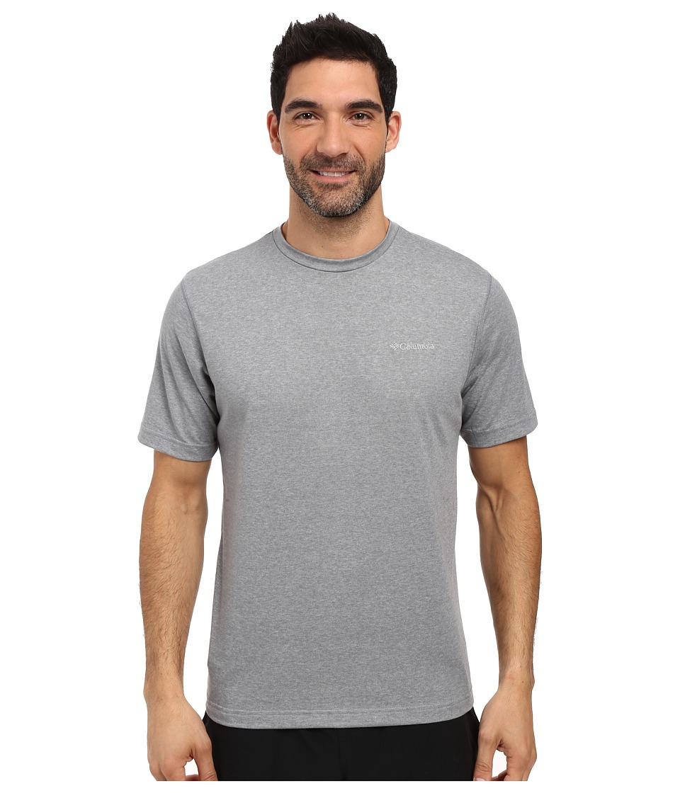 Columbia - Thistletown Park Crew (Grey Ash Heather) Men's Short Sleeve Pullover