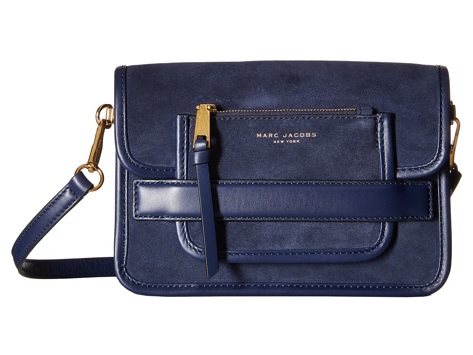 Marc Jacobs - Madison Suede Medium Shoulder Bag (Midnight Blue) Shoulder Handbags