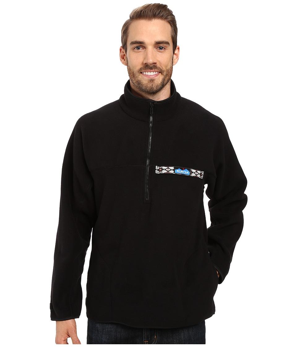 KAVU - Fleece Throwshirt (Black) Men's Clothing