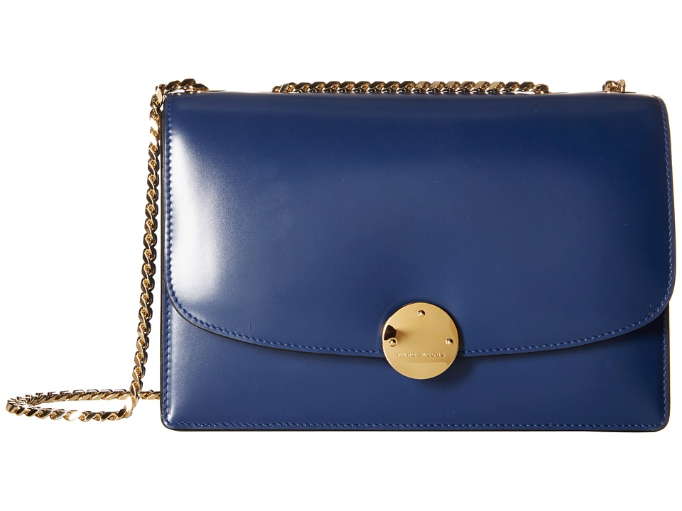 Marc Jacobs - Trouble Classic Calf Trouble (Dark Blue/Gold) Handbags