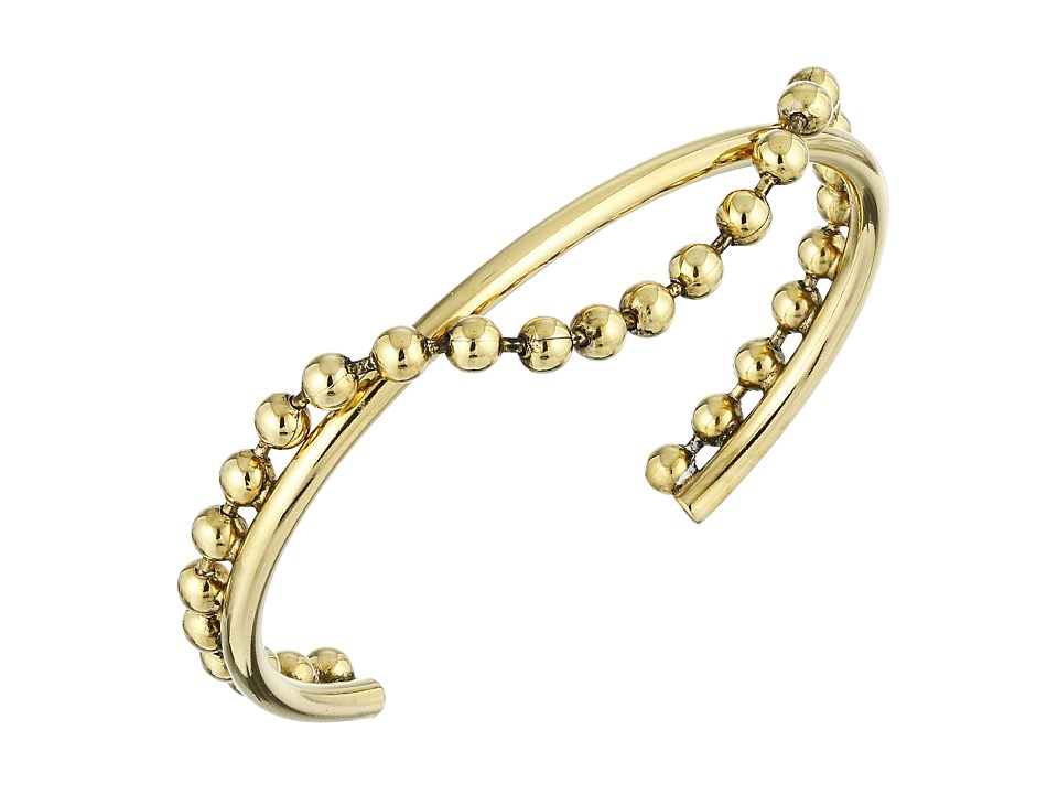 Marc Jacobs - Hanging Ball Chain Cuff Bracelet (Antique Gold) Bracelet