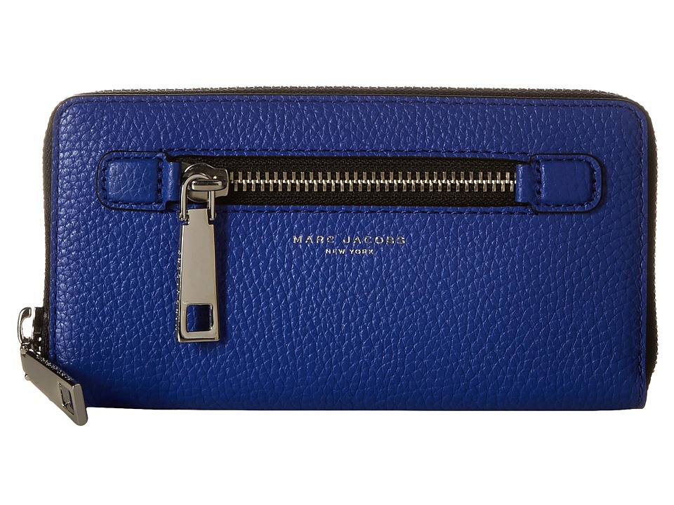Marc Jacobs - Gotham Continental Wallet (Cobalt Blue) Wallet Handbags
