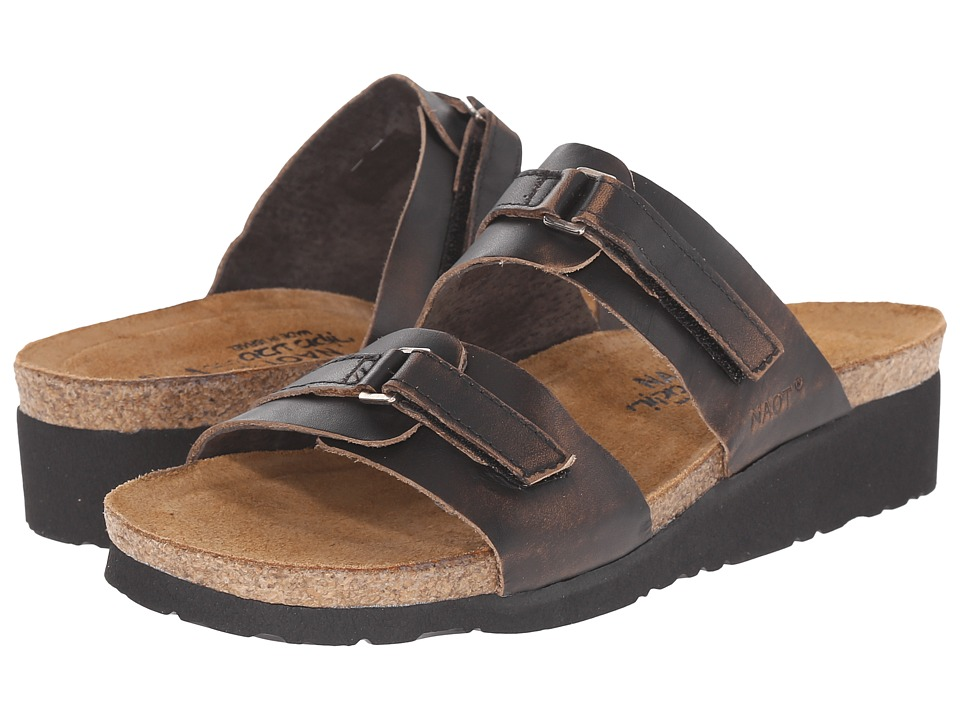 Naot Footwear - Carly (Volcanic Brown Leather) Women's Sandals
