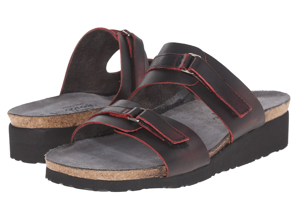 Naot Footwear - Carly (Volcanic Red Leather) Women's Sandals