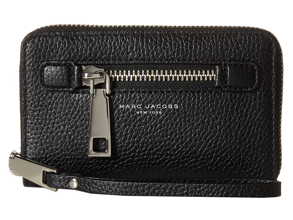 Marc Jacobs - Gotham Zip Phone Wristlet (Black) Wristlet Handbags