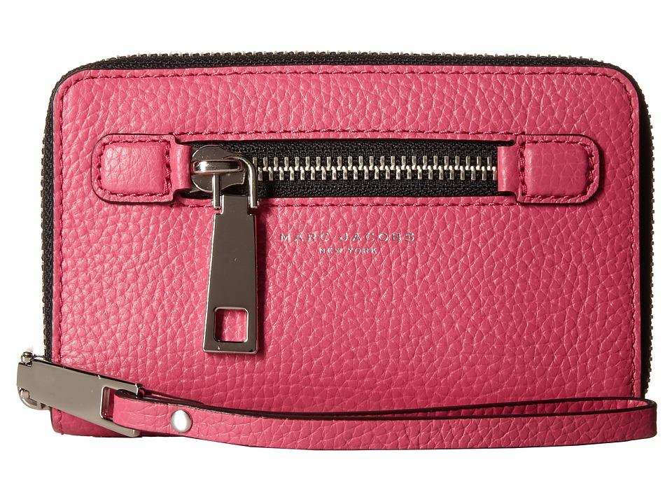 Marc Jacobs - Gotham Zip Phone Wristlet (Begonia) Wristlet Handbags