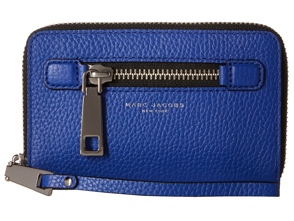 Marc Jacobs - Gotham Zip Phone Wristlet (Cobalt Blue) Wristlet Handbags