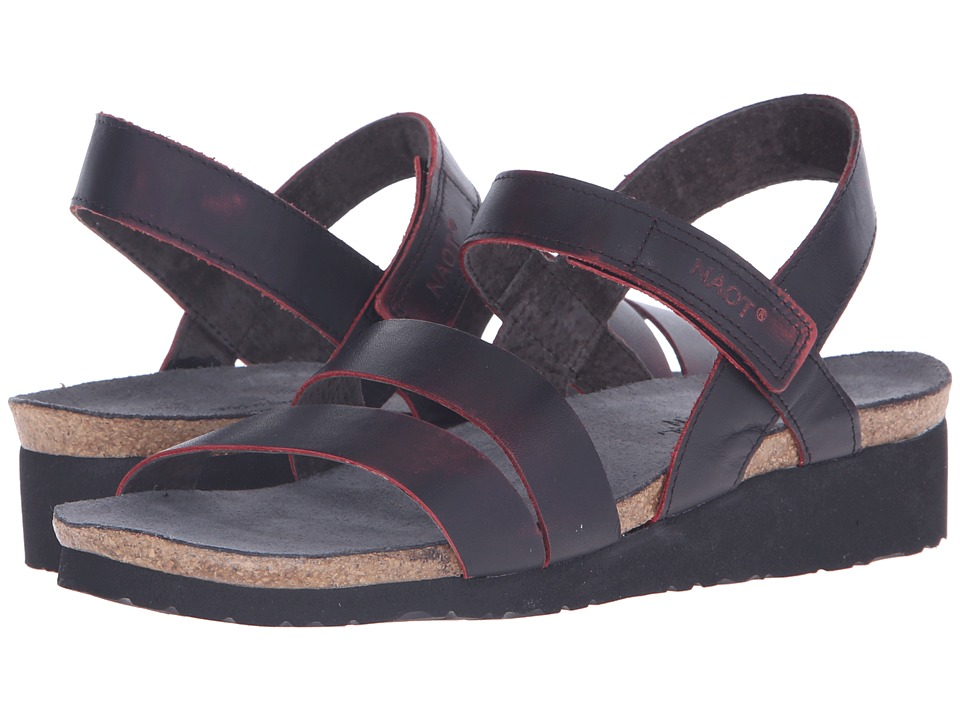 Naot Footwear - Kayla (Volcanic Red Leather) Women's Sandals