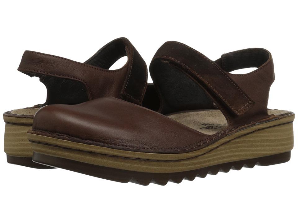 Naot Footwear - Lantana (Toffee Brown Leather/Seal Brown Suede) Women's Sandals