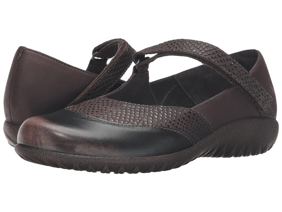 Naot Luga (Brown Croc Leather/Brown Shimmer Nubuck/Volcanic Brown Leather) Women