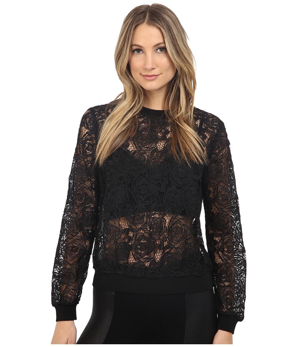 McQ - Lace Sweatshirt (Black) Women's Sweatshirt