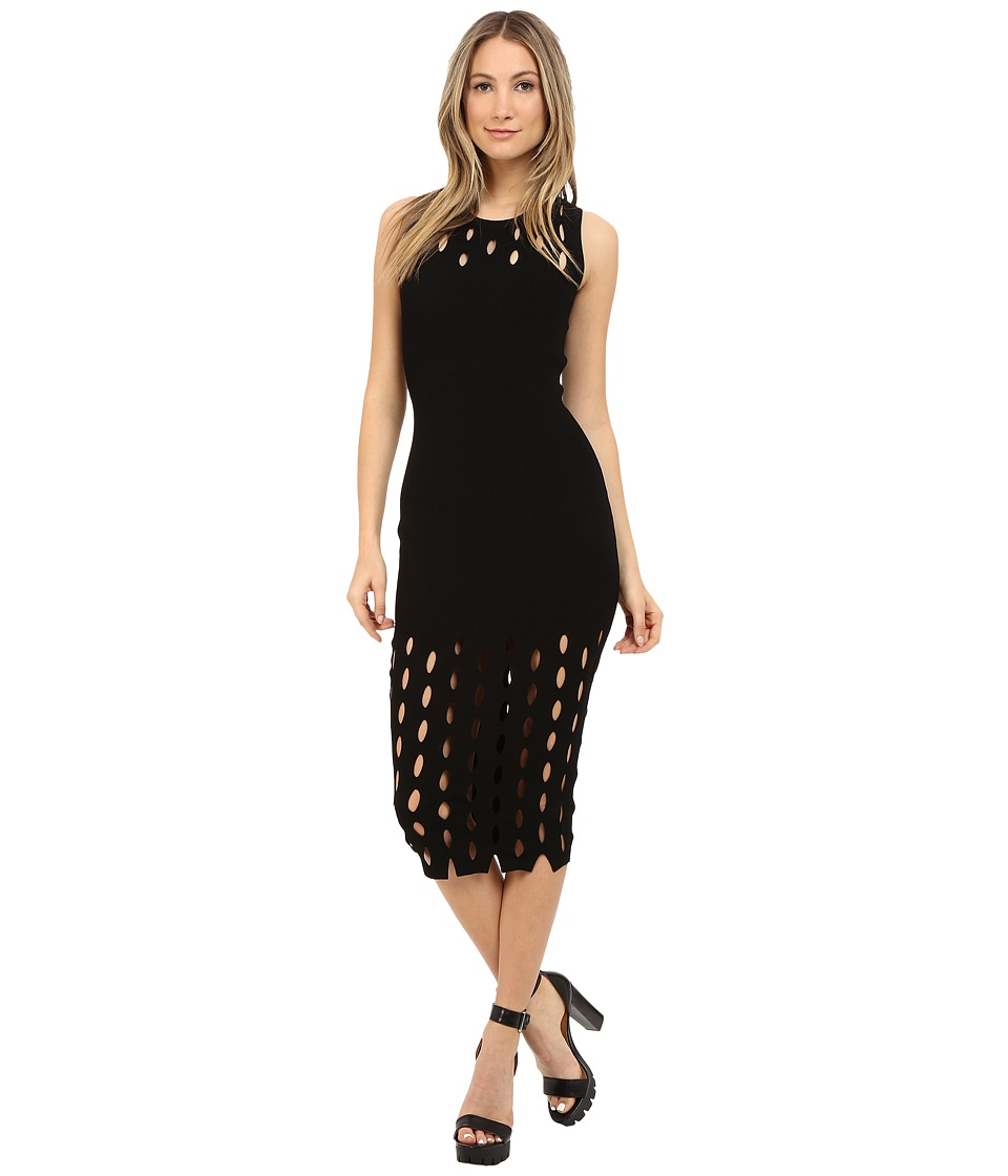 McQ - Cut Out Stitch Dress (Darkest Black) Women's Dress