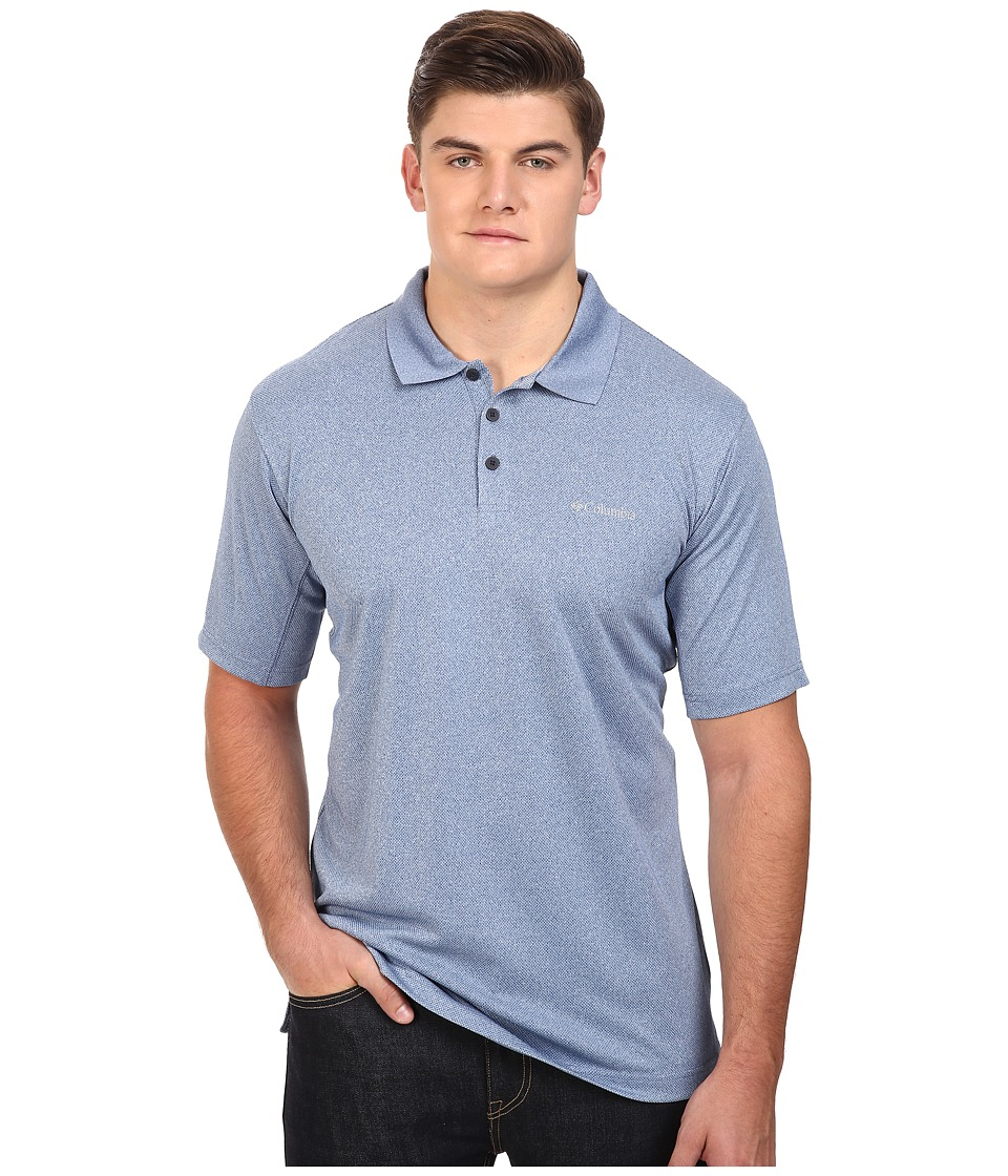 Columbia Big Tall New Utilizer Polo Marine Blue Heather Mens Short Sleeve Pullover