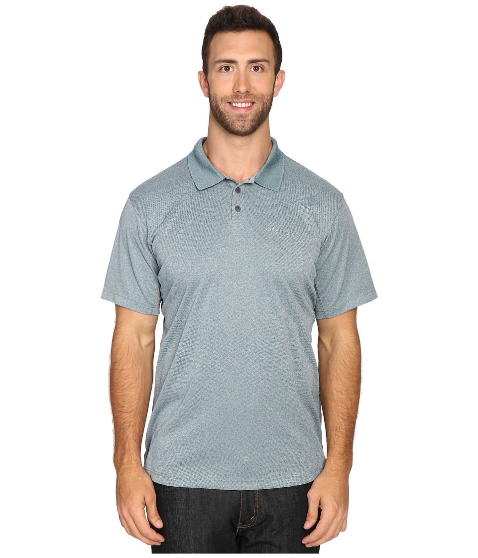 Columbia - Big Tall New Utilizer Polo (Deep Water Heather) Men's Short Sleeve Pullover