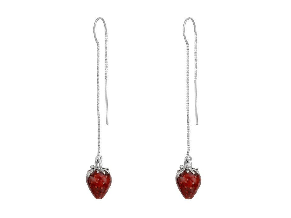 Marc Jacobs - Strawberry Charm Drop Earrings (Antique Silver) Earring