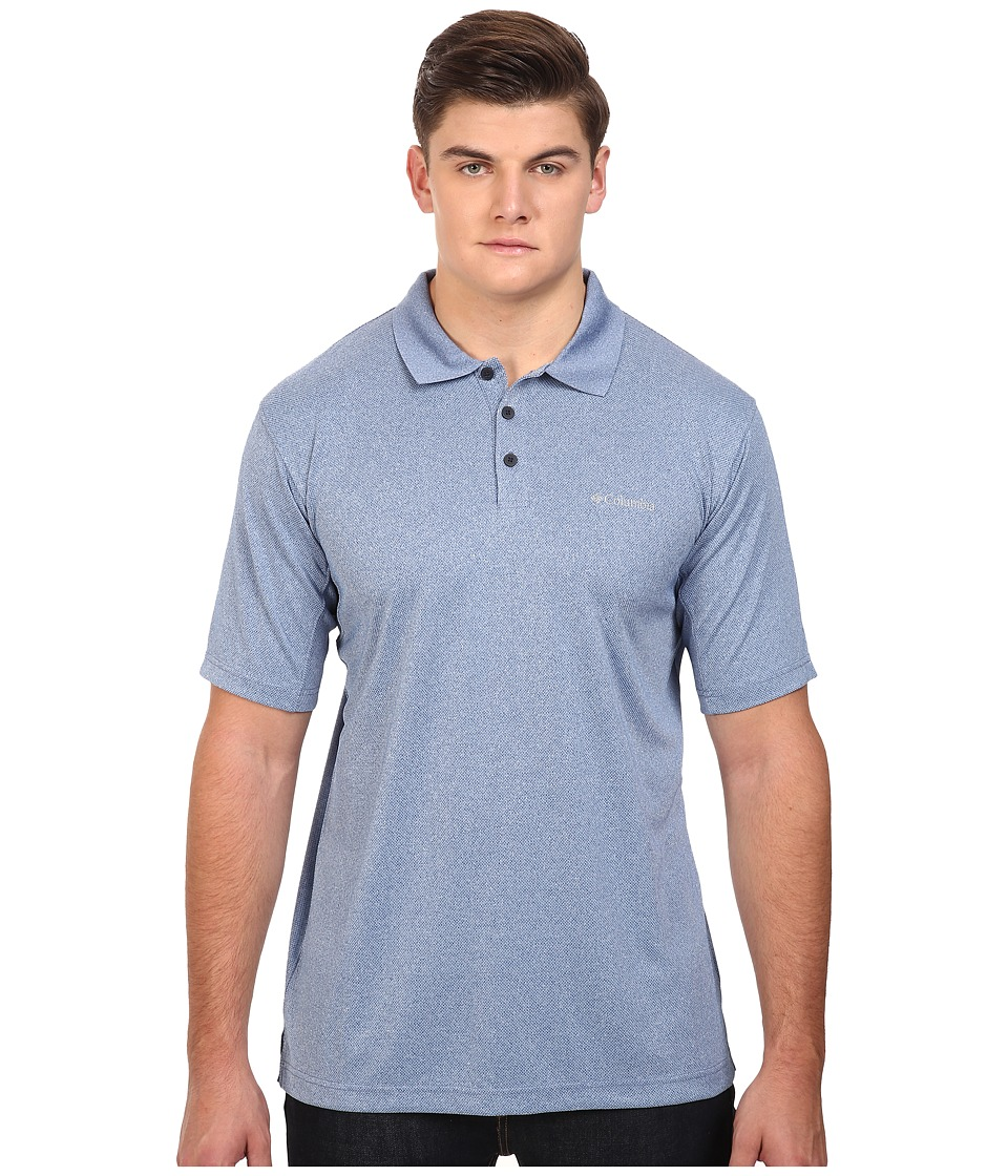 Columbia - Big Tall New Utilizer Polo (Marine Blue Heather) Men's Short Sleeve Pullover