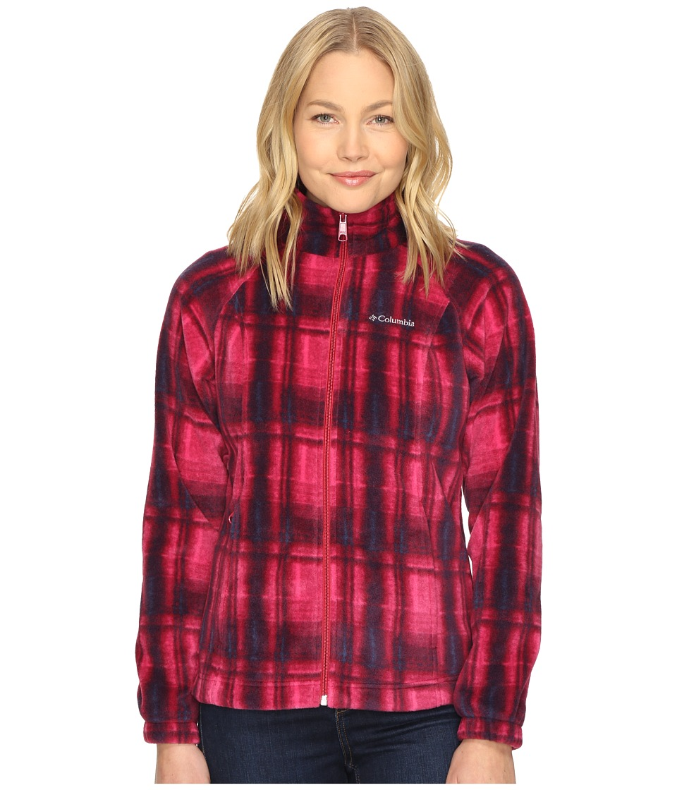 Columbia - Benton Springs Print Full Zip (Red Orchid Plaid) Women's Coat