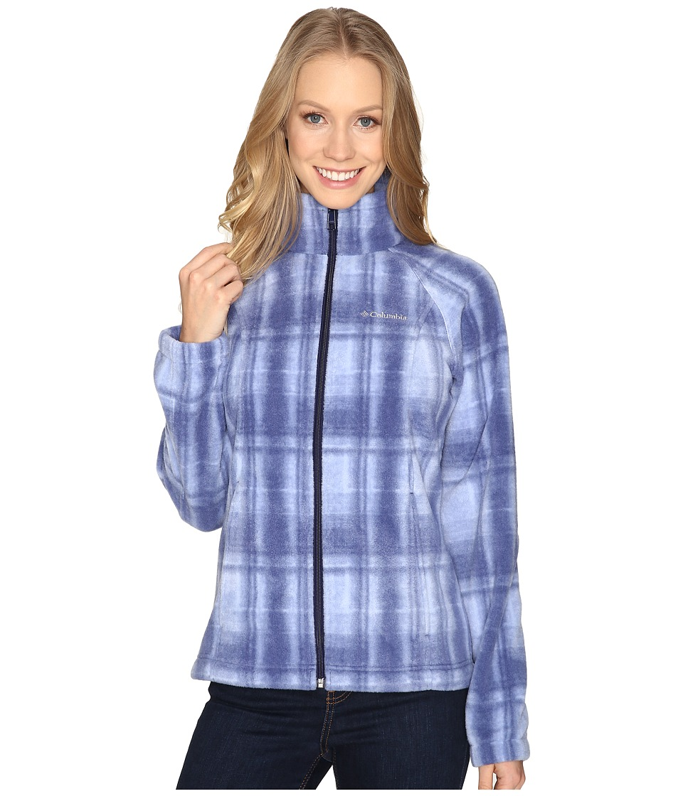 Columbia - Benton Springs Print Full Zip (Nightshade Plaid) Women's Coat