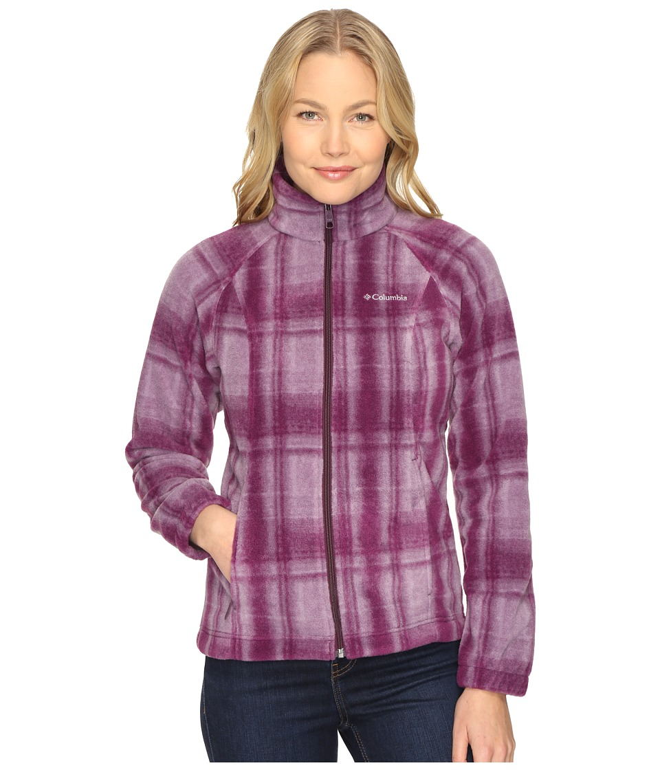 Columbia Benton Springs Print Full Zip (Purple Dahlia Plaid) Women