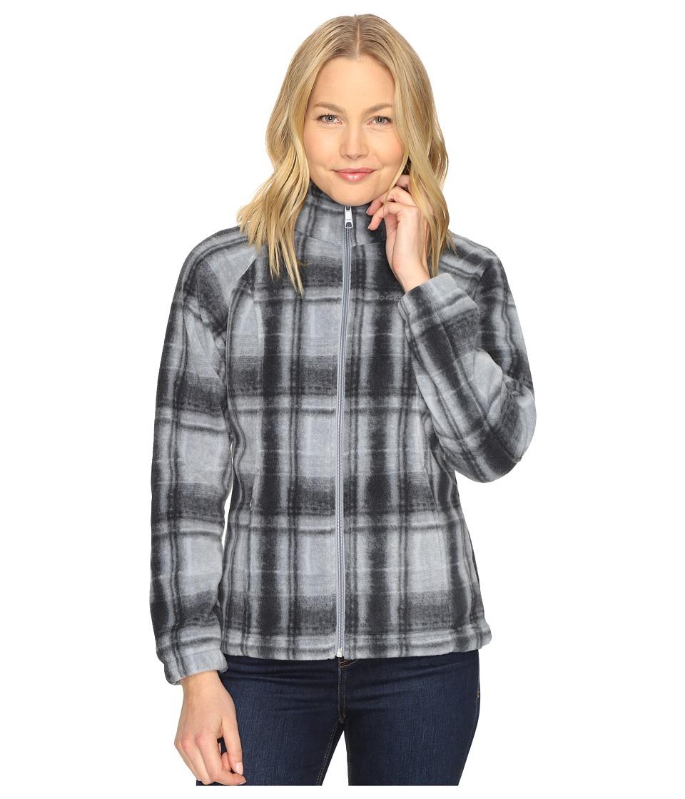 Columbia - Benton Springs Print Full Zip (Tradewinds Grey Plaid) Women's Coat