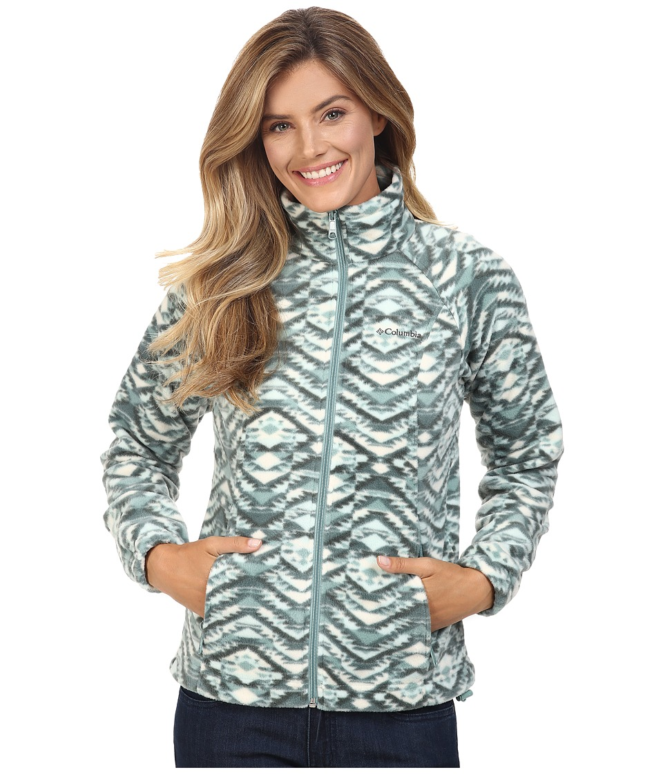 Columbia - Benton Springs Print Full Zip (Dusty Green Navajo Print) Women's Coat