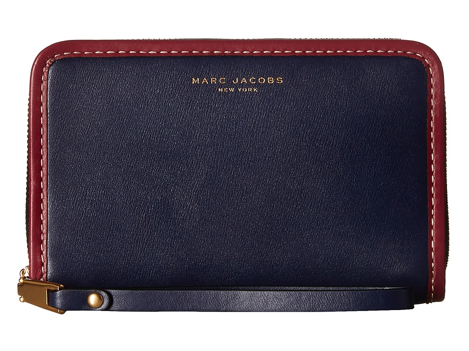 Marc Jacobs - Madison Zip Phone Wristlet (Midnight Blue) Wristlet Handbags