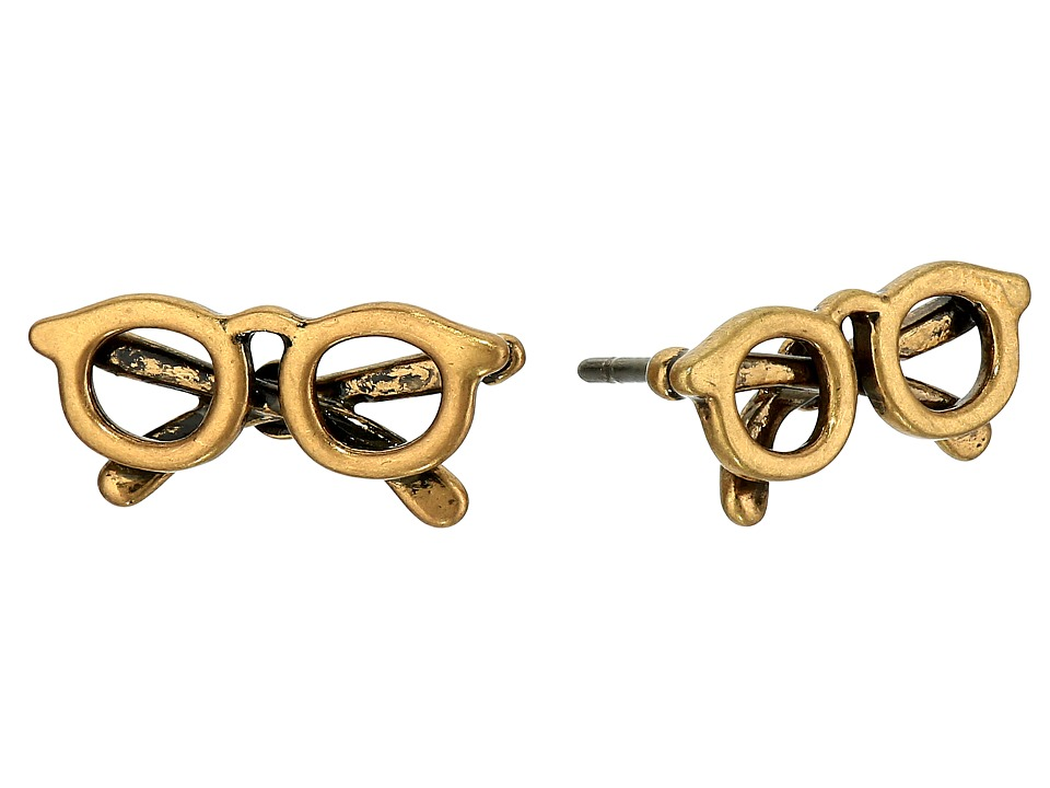 Marc Jacobs - Sunglass Studs Earrings (Antique Gold) Earring