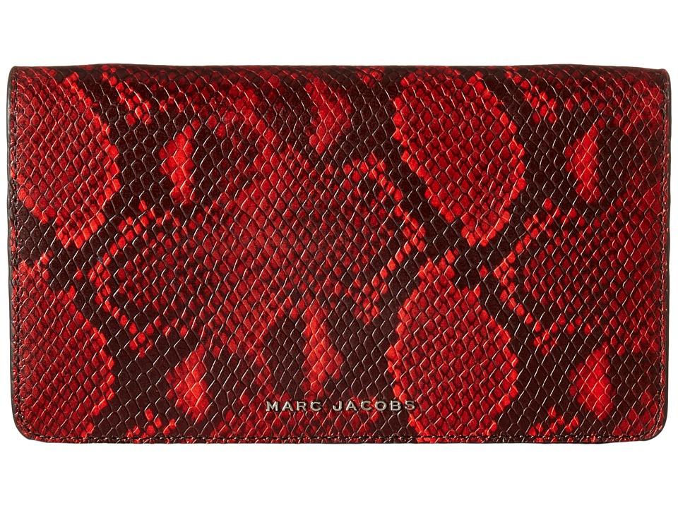 Marc Jacobs - Block Letter Snake Wallet Leather Strap (Red Snake Multi) Wallet Handbags