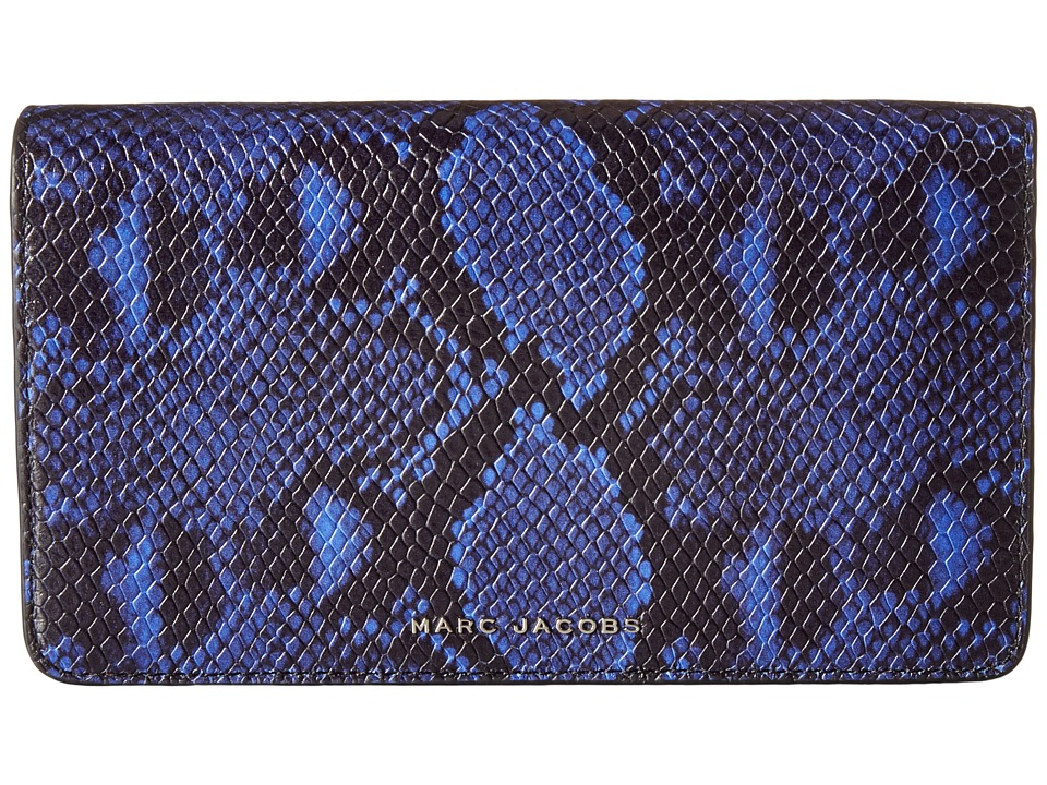 Marc Jacobs - Block Letter Snake Wallet Leather Strap (Cobalt Snake Multi) Wallet Handbags