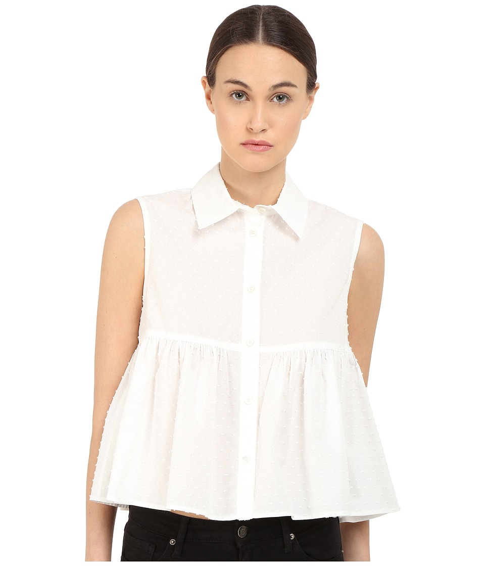 McQ - Cropped Shirt (Ivory) Women's Clothing