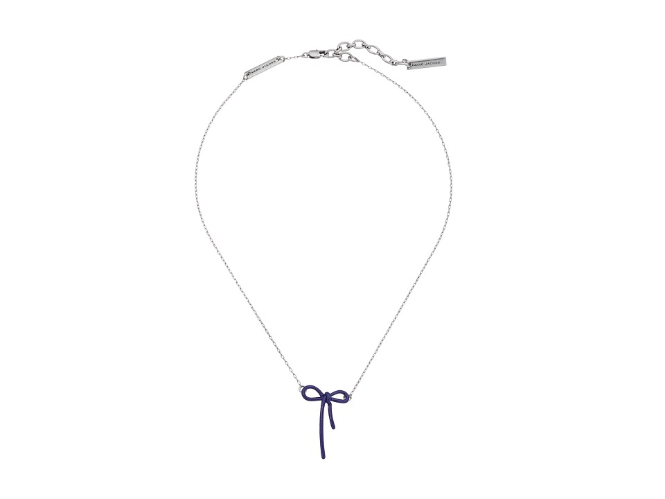 Marc Jacobs - Mini Enamel Bow Pendant Necklace (Celestial Blue) Necklace