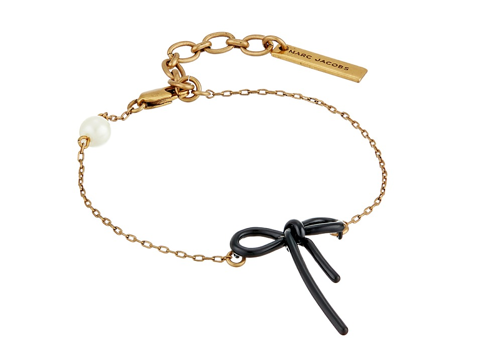 Marc Jacobs - Bow Chain Bracelet (Black) Bracelet