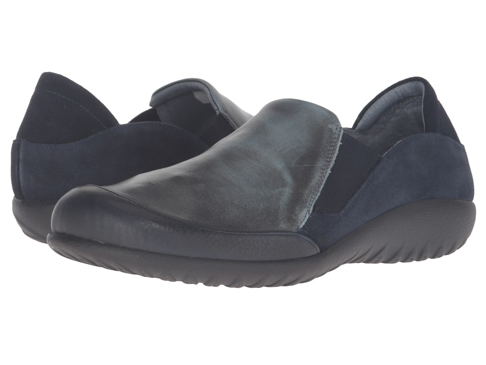 Naot Footwear - Moana (Ink Leather/Vintage Smoke Leather/Blue Velvet Suede) Women's Shoes