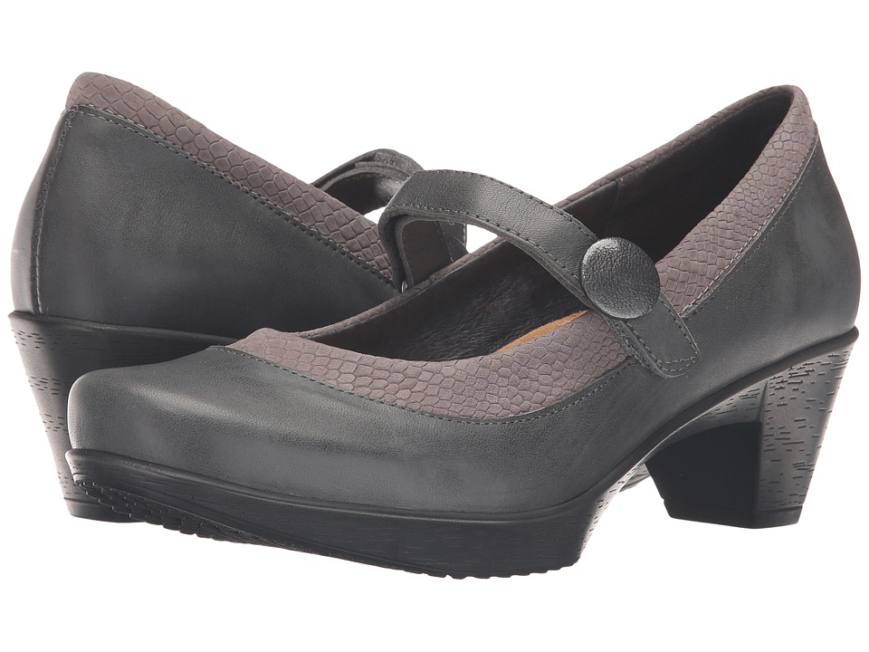 Naot Footwear - Latest (Tin Gray Leather/Gray Iguana Nubuck) Women's Flat Shoes