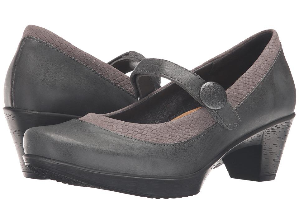Naot Latest (Tin Gray Leather/Gray Iguana Nubuck) Women