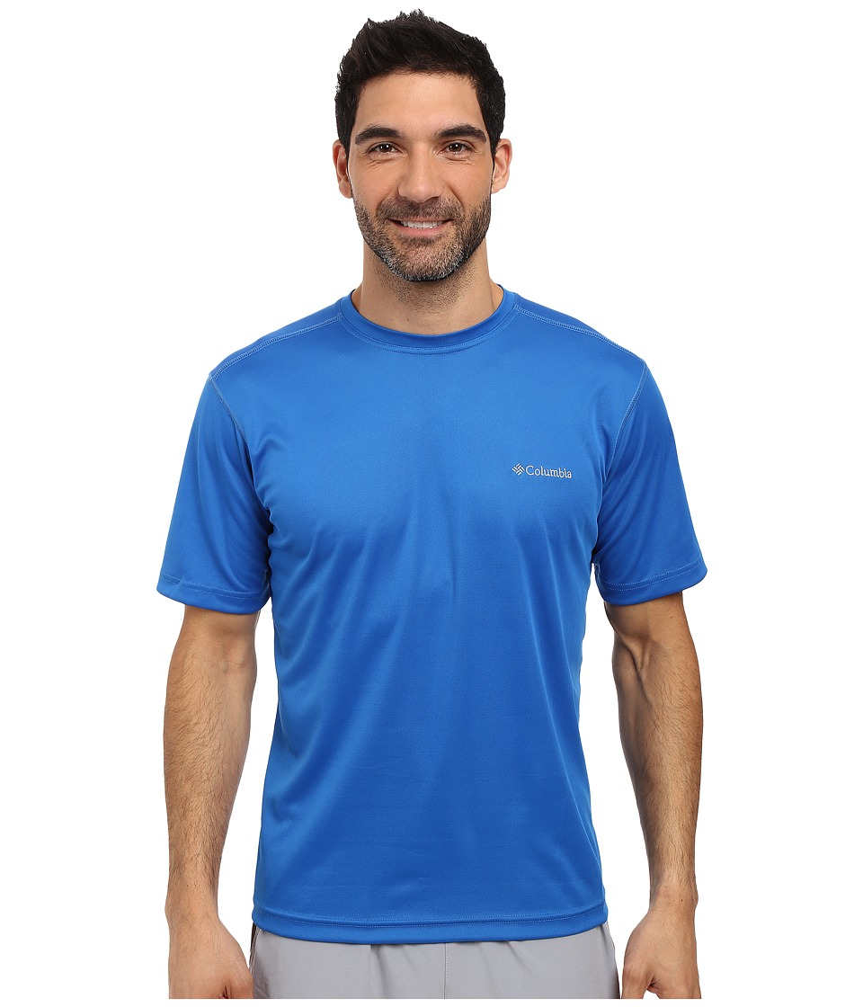 Columbia Meeker Peaktm Short Sleeve Crew (Super Blue) Men